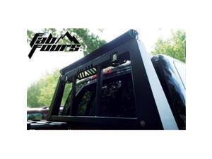 FAB FOURS HR20021 Headache Rack, Black Steel