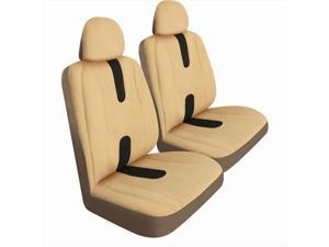 Pilot Automotive SC-438T Pro Comp Mesh Seat Cover - Tan & Brown, 2 Piece Set