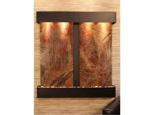 Adagio AF 1506 Aspen Falls Wall Fountain - Brown Rainforest Marble