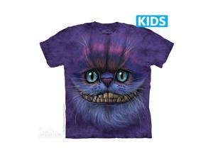 The Mountain 1540050 Big Face Cheshire Cat Kids T Shirt, Small