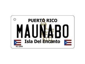 Smart Blonde KC-2858 Maunabo Puerto Rico Flag Novelty Key Chain