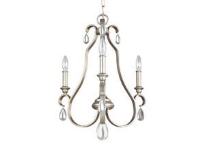MurrayFeiss F3069-3SRS DeWitt 3 Light Chandelier In Sunrise Silver
