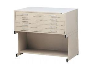 Mayline 7869CG 5-Drawer C-File Gray