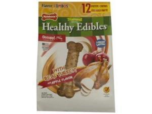 Nylabone Corp-Bones 491535 Healthy Edibles Combo Turkey & Apple, Petite