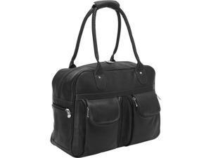 Piel Leather 3016 - BLK Multi - Pocket Satchel - Black
