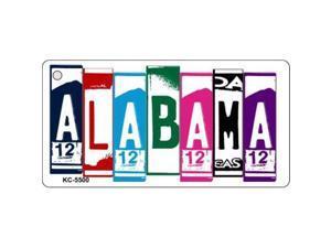 Smart Blonde KC-5500 Alabama License Plate Art Metal Novelty Key Chain