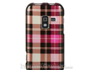 DreamWireless CASAMR920HPCK Samsung Galaxy Attain 4G & R920 Crystal Case, Hot Pink Checker