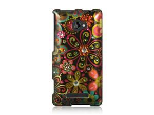 DreamWireless SDAHTC8XBKMTFL HTC 8X Spot Diamond Case, Black Multi Flower