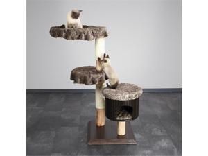 TRIXIE Pet Products 46620 Savannah Natural Cat Tree, Marbled Brown-Gray
