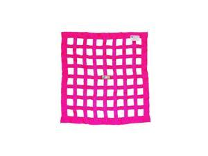 RJS Racing Equipment 10-0006-10-00 24 x 24 in. Ribbon Window Net SFI 27.1, Hot Pink