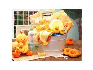 Gift Basket Drop Shipping 89091-Y Bath Time Baby New Baby Basket - Yellow