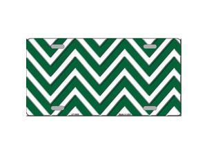 Smart Blonde LP-4469 Green White Chevron Metal Novelty License Plate
