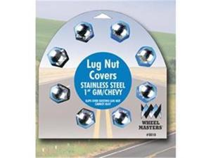 Wheelmaster 8010 1 In. Stainless Stell Lug Nut Cover, 8 Pack