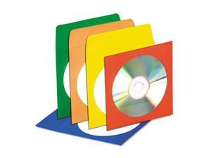 Innovera 39404 CD-DVD Envelopes with Clear Window, Assorted Colors, 50-Pack