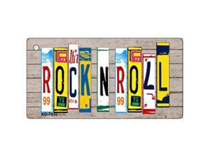 Smart Blonde KC-7950 Rock N Roll Wood License Plate Art Novelty Key Chain