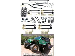 Currie CE-9801HL LJ Unlimited Johnny Joint 4 In. Suspension System With Antirock For Up To 35 In. Tires