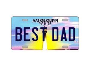 Smart Blonde LP-6570 Best Dad Mississippi Novelty Metal License Plate