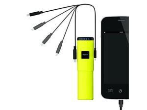 Eagle Tech NP028K-YW 2800mAh Lipstick Sized Battery Charger for Smartphones - Yellow