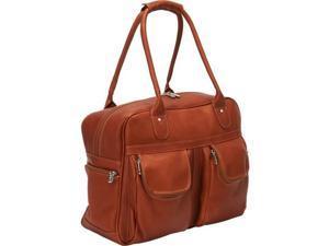Piel Leather 3016 Multi - Pocket Satchel - Saddle