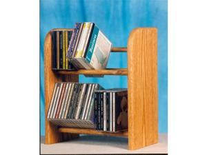 Wood Shed 204 Solid Oak 2 Row Dowel CD Rack