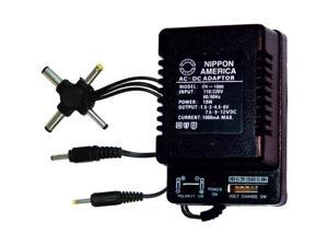 AUDIOP DV1000 AC-DC 1000mA Power Adapter 6-Way Universal Plug