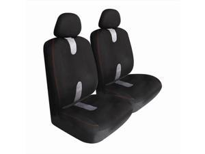 Pilot Automotive SC-438E Pro Comp Mesh Seat Cover - Black & Gray, 2 Piece Set