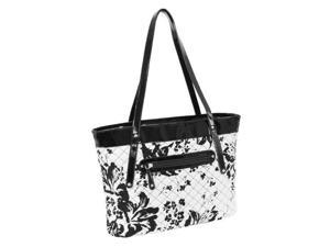 McKlein USA 11280 Parinda Fiona Quilted Carry All Tote Bag, Black & White