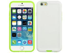 DreamWireless TCAIP6USLGRWT Apple iPhone 6 Ultra Slim Hybrid Case Green Skin Plus White PC, 4.7 in.