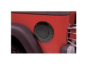 SMITTY BILT 75006 1997-2006 Jeep Billet Style Gas Cover - Gloss Black