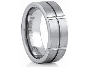 Doma Jewellery SSTCR03710 Tungsten Carbide Ring - 8 mm. Wide, Size 10