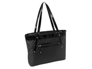 McKlein USA 11285 Parinda Fiona Quilted Carry All Tote Bag, Black