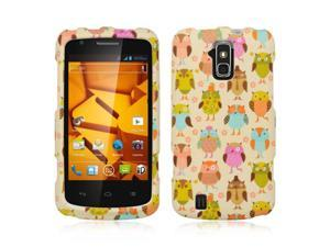DreamWireless CRZTEFORCEFANOWL ZTE Force & N9100 Crystal Rubber Case, Fancy Owl