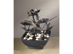Fountain Cellar FCT006 Cadono Metal Leaves Tabletop Fountain