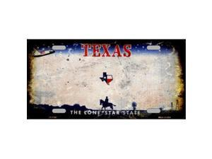 Smart Blonde LP-8160 Texas State Background Rusty Novelty Metal License Plate