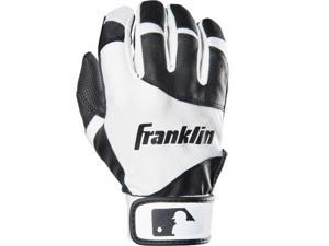 Franklin Sports 21200F1 Sports - Youth Classic Batting Glove, Black & White - Youth Small