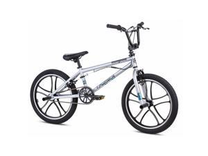 Mongoose M8002 Boys Uni Freestyle Legion Mag Bicycle, Silver - 20 in.