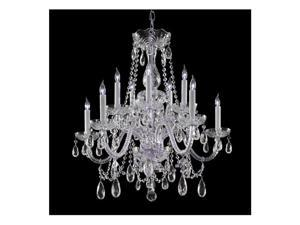 Crystorama Lighting 1130-CH-CL-SAQ Traditional Crystal Collection Chandelier - Polished Chrome