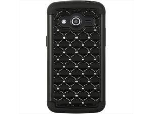 DreamWireless SCASAMAVANTSTDCKBKBK Samsung Galaxy Avant Hybrid Studded Diamond Case Black Skin Plus Black PC