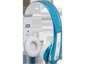 MiiKey Rhythm Pro Bluetooth Stereo Headphones - White & Blue