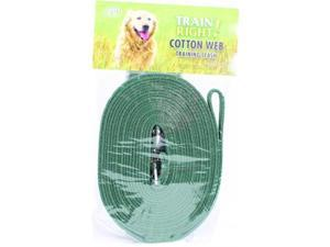 Coastal Pet Products 827911 Train Right Cotton Web Training Leash - Green, 20 Foot