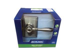 Schlage Lock F10VBIR619ADD Passage Birmingham Lock Set, Satin Nickel