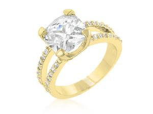 Jgoodin R07436G-C01-09 Double Band Cubic Zirconia Engagement Ring - Size 09