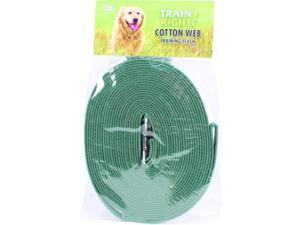 Coastal Pet Products 827914 Train Right Cotton Web Training Leash - Green, 30 Foot