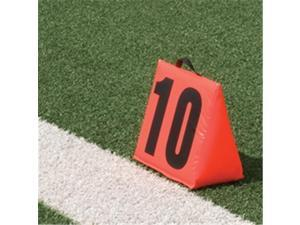 Pro Down 1249378 Solid Sideline Markers 5pc Set Football Field Equipment
