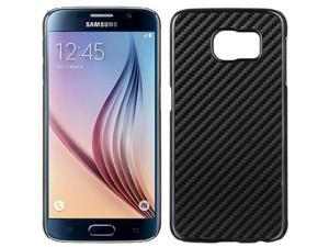 DreamWireless CHSAMS6-CF-BK Samsung Galaxy S6 Carbon Fiber Chrome Case Black