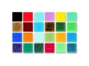 Mosaic Mercantile 0.38 x 0.38 in. Glass Authentic Square Mosaic Tile - 1 Lbs. Bag