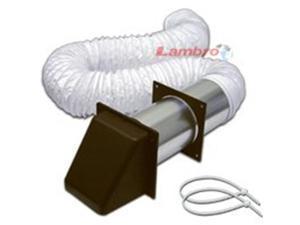 Lambro Industries 207B 4 x 8 Brown Flex Vinyl Vent Kit