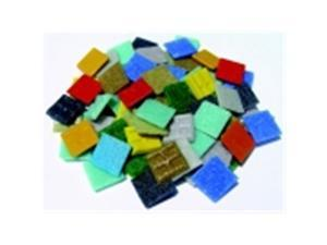 Mosaic Mercantile Glass Authentic Square Mosaic Tile - 0.75 x 0.75 in. - 3 Lbs. Bag