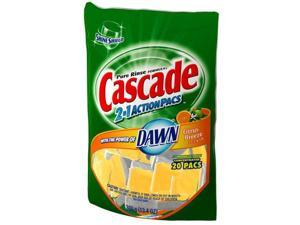 Procter & Gamble 43121 Cascade 2 In 1 ActionPacs Dishwasher Detergent