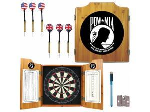 POW Dart Cabinet Includes Darts and Board